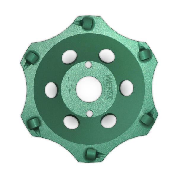 Diamant-Schleifteller PKD-Cup 6 Segmente Ø 180 mm Aufnahme 22,2 mm Bauhöhe 28 mm