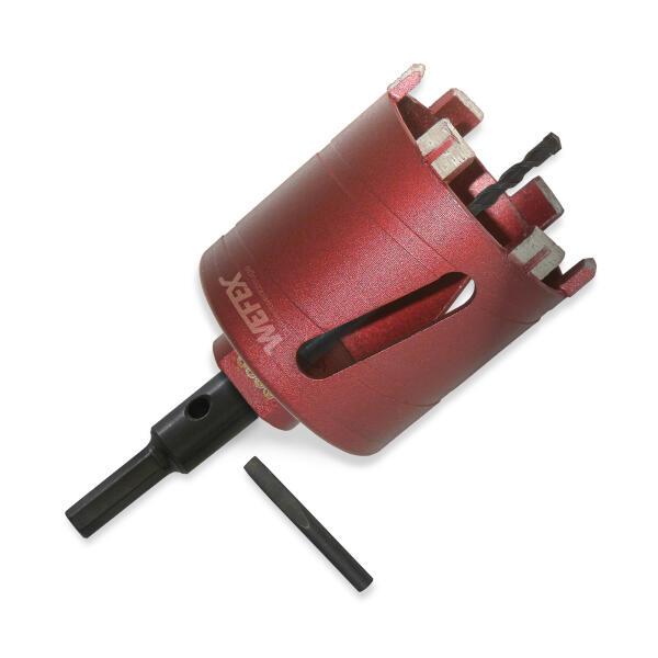 Diamant-Dosensenker Laser-Turbo Ø 68 mm M16 Set Zentrierbohrer und 6-kant Adapter