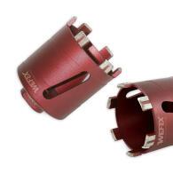 Diamant-Dosensenker Laser-Turbo Ø 82 mm M16 Set Zentrierbohrer und 6-kant Adapter