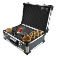 Diamant-Fliesenbohrkronen Set 12-tlg. Vakuum Premium M14...