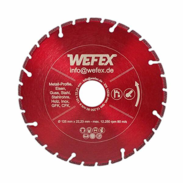 INOX Ø 125 x 22,2 x 1,0 mm Metalltrennscheibe Trennscheibe Stahl Edelstahl