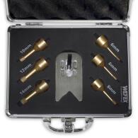 Diamant-Fliesenbohrkronen Set 8-tlg. Vakuum Premium M14...