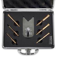 """Diamant-Fliesenbohrkronen Set 8-tlg. Vakuum Premium 1/4"""" Sechskant für Bohrmaschinen im Koffer"""