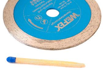Diamant-Trennscheiben mit 75 mm Durchmesser und 10 Aufnahmebohrung
