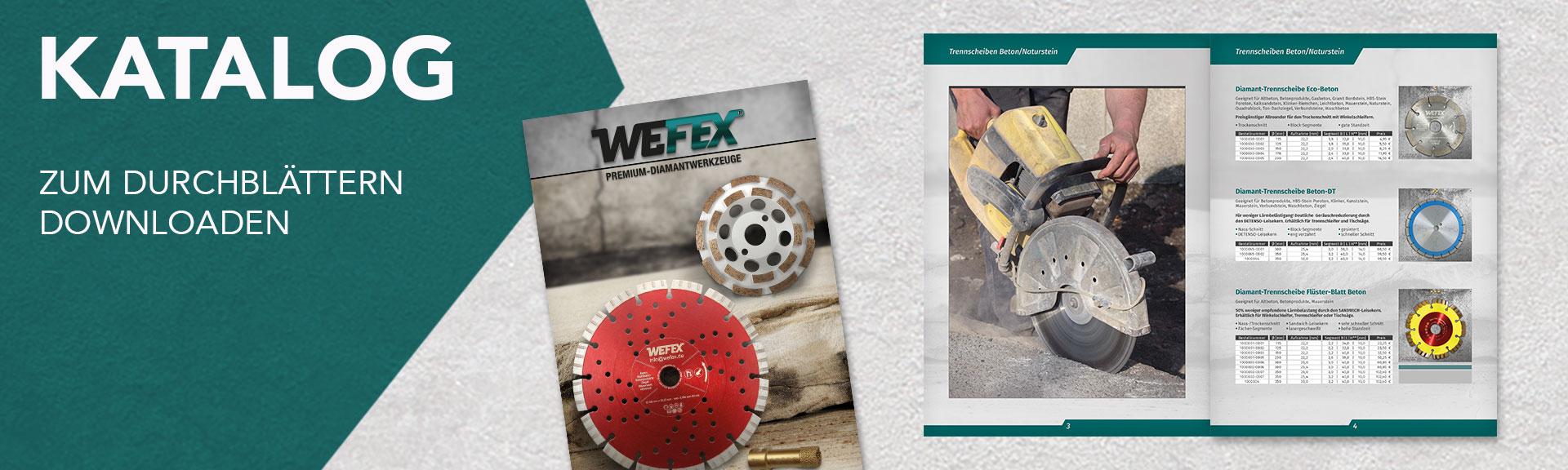 Wefex Fachhandelswerkzeuge Katalog zum downlo